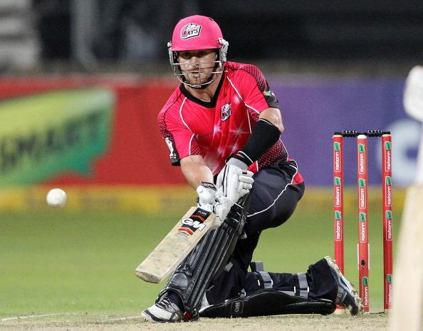 DURBAN, SOUTH AFRICA - OCTOBER 22:  Nathan McCullum of Sydney in action during the Champions League twenty20 match between Sydney Sixers and Mumbai Indians at Sahara Stadium Kingsmead on October 22, 2012 in Durban, South Africa. (Photo by Anesh Debiky / Gallo Images/Getty Images)