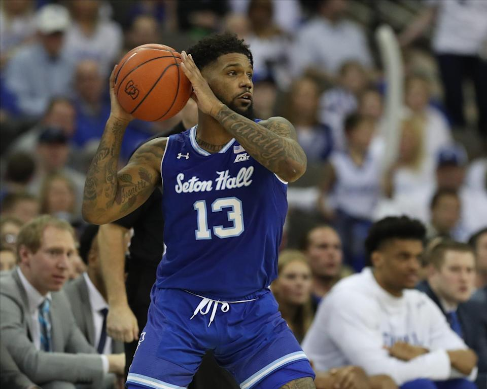 Myles Powell, seen here in a March 2020 game with Seton Hall.
