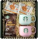 <p>Treat your Starbucks-loving mom with this <span>Starbucks Affection Gift Box with Greeting Card, 5 Piece Set</span> ($26).</p>
