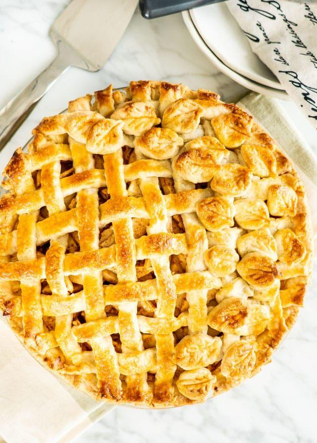 """<p>The best pie lattices look as good as they taste. This one's a bona fide showstopper.</p><p><strong>Get the recipe at <a href=""""https://www.jocooks.com/recipes/classic-apple-pie/"""" target=""""_blank"""">Jo Cooks</a>. </strong></p><p><strong><a class=""""body-btn-link"""" href=""""https://www.amazon.com/Vintage-Stainless-Server-Dessert-Slicer/dp/B010NCJCL2?tag=syn-yahoo-20&ascsubtag=%5Bartid%7C10050.g.973%5Bsrc%7Cyahoo-us"""" target=""""_blank"""">SHOP PIE SERVERS</a><br></strong></p>"""