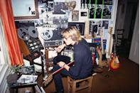 <p>Stewart Copeland of The Police creating music at his home in 1979.</p>