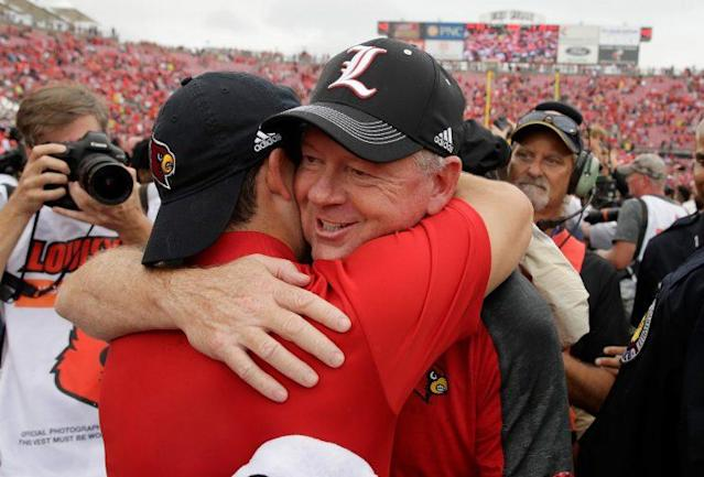 Bobby Petrino's Cardinals are averaging 65 points per game through three wins this season. (Getty)