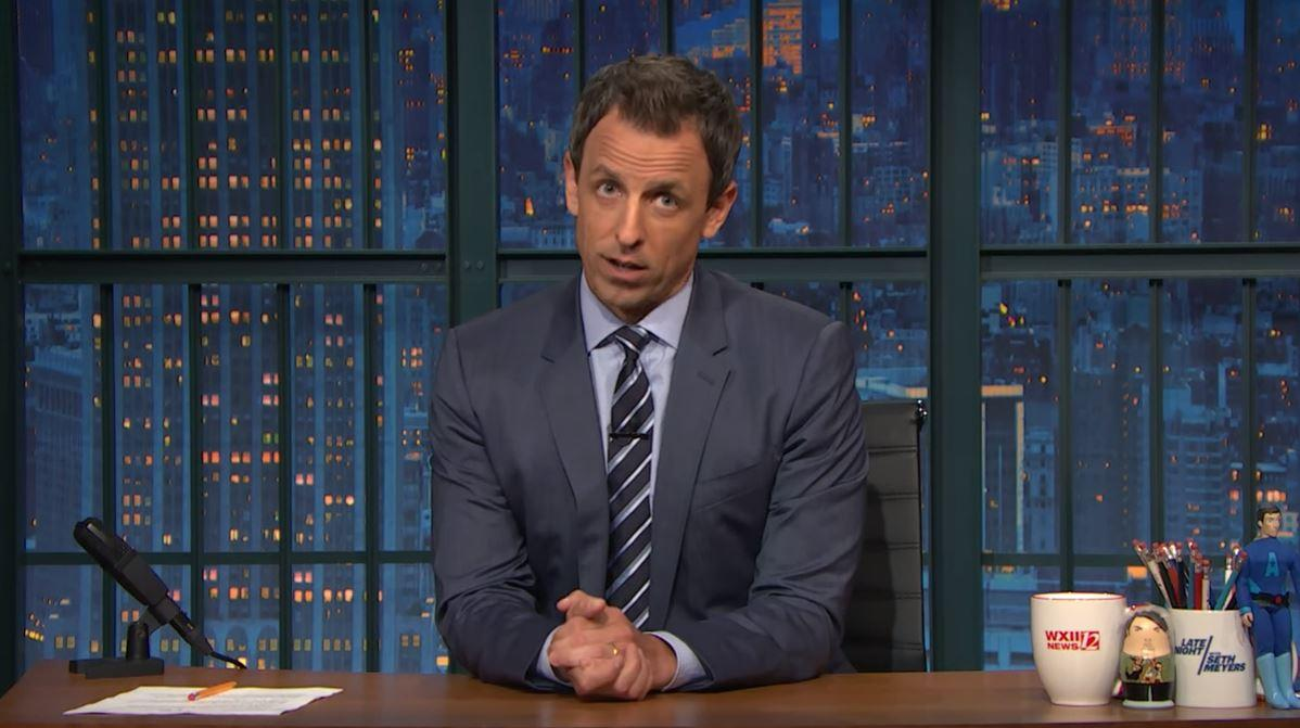 "NBC's <em>Late Night</em> host <a rel=""nofollow"" href=""http://deadline.com/tag/seth-meyers/"">Seth Meyers</a> explained the origin of President <a rel=""nofollow"" href=""http://deadline.com/tag/donald-trump/"">Donald Trump</a>'s conspiracy theory about the <a rel=""nofollow"" href=""http://deadline.com/tag/fbi/"">FBI</a> spying in his White House: Trump was holed up in the White House last weekend, with no public events, as various news outlets published one new bombshell after another about his campaign's ties to foreign governments. That triggered a tsunami if presidential tweets. So many long tweets, <em>Late Night</em> had to fast forward through them. Meyers called it unfair that…"