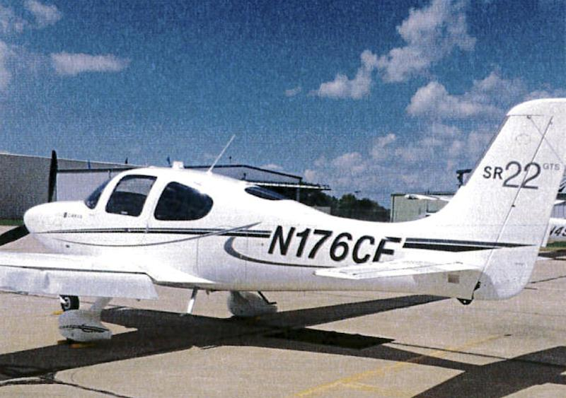 FILE - This 2015 file photo provided by the Bloomington Normal Airport Authority shows a damaged wing of a Cirrus SR22 single-engine plane at the Central Illinois Regional Airport in Bloomington, Ill. Once seen as a luxury of the corporate world, private planes are becoming increasingly common at U.S. colleges and universities as schools try to attract athletes, raise money and reward coaches with jet-set vacations. Iowa State University President Steven Leath, a pilot, acknowledged last year that he used a school plane for trips that mixed personal and university business, a practice that came to light after he damaged the aircraft in a hard landing. (Bloomington Normal Airport Authority via AP, File)