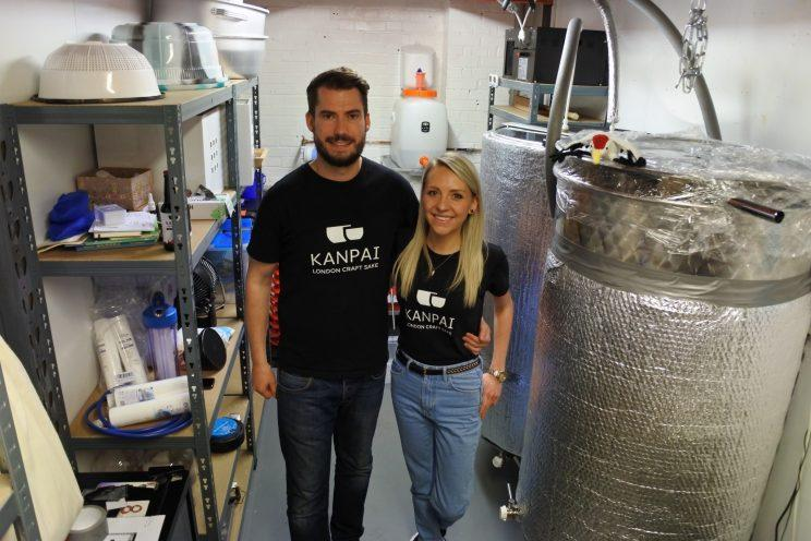Tom Wilson and Lucy Holmes operate Britain's only sake brewery (Picture: Kanpai)