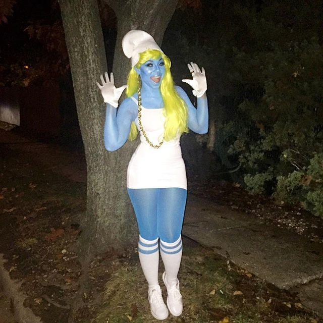 """<p>If you're down to wear blue body paint all night, a Smurf costume like this one will get all the love. </p><p><a href=""""https://www.instagram.com/p/9iXSfxCiXN/?utm_source=ig_embed&utm_campaign=loading"""" rel=""""nofollow noopener"""" target=""""_blank"""" data-ylk=""""slk:See the original post on Instagram"""" class=""""link rapid-noclick-resp"""">See the original post on Instagram</a></p>"""
