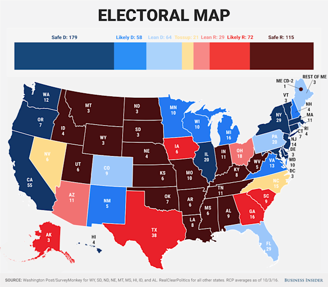 THE BUSINESS INSIDER ELECTORAL PROJECTION
