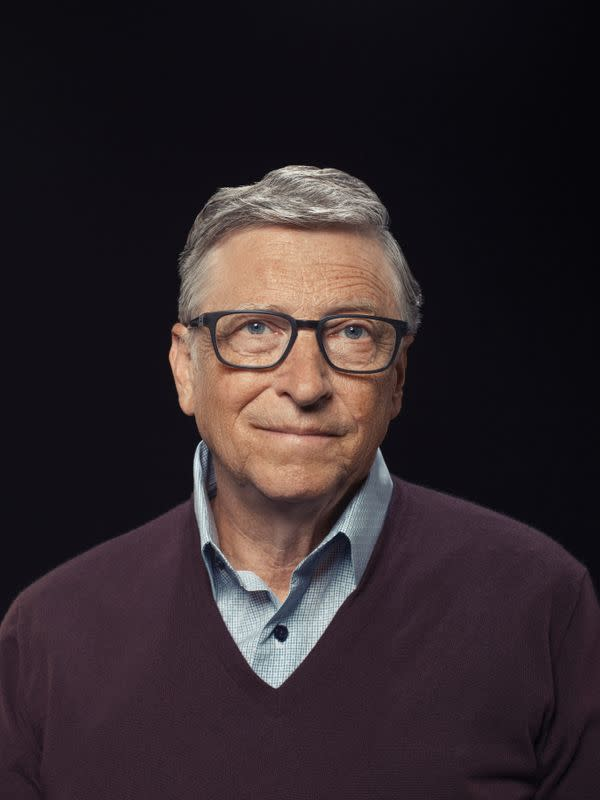 Bill Gates poses in this undated handout photo