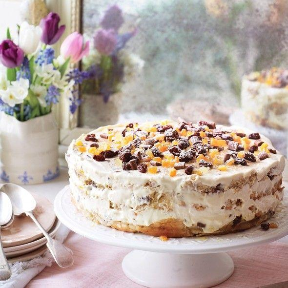 """<p>This centrepiece pudding is full of spice and ideal to prepare ahead.</p><p><strong>Recipe: <a href=""""https://www.goodhousekeeping.com/uk/food/recipes/hot-cross-bun-cake"""" rel=""""nofollow noopener"""" target=""""_blank"""" data-ylk=""""slk:Hot cross bun layer cake"""" class=""""link rapid-noclick-resp"""">Hot cross bun layer cake</a></strong></p>"""