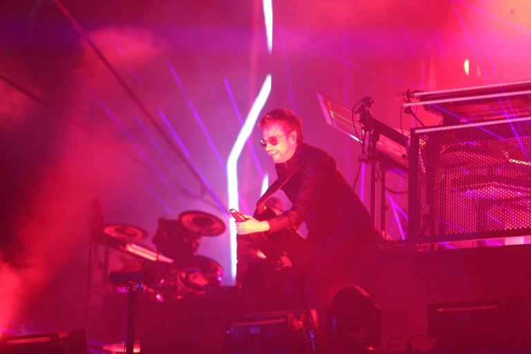 Electronic music pioneer Jean-Michel Jarre performs in Israel at a concert to raise awareness of the receding of the Dead Sea, the world's lowest body of water