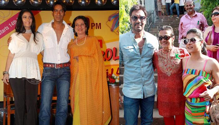 Tanuja and Ajay Devgn