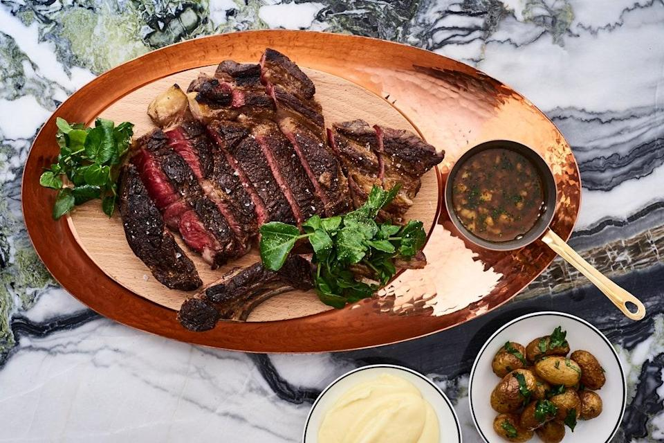 <p><strong>What were your first impressions when you arrived?</strong></p> <p>In the heart of Les Halles, formerly the food market neighborhood in Paris, is this elegant grill from one of the city's most beloved and award-winning chefs, Jean-François Piège. A fan of steakhouses in cities like New York and London, the chef (who owns several other restaurants including the Michelin-starred Grand Restaurant) happened to find a location with a big enough space to fit the grill and still have room for a custom meat cabinet displaying their specialties — French cuts from the Aquitaine and premium meats from Metzger butcher's shop: Angus flank steak from Kansas and the Polish Noire de Baltique strip loin steaks aged over beech, unique for Paris—as well as two dining rooms. That's what you notice first when you step in: to the right, an intimate dining room with floral wallpaper and dim lighting; to the left, a bar room with striking marble bar, plush leather banquettes, and a honeycomb tiled floor. Look closely and you'll see subtle nods to the four-leaf clover.</p> <p><strong>What's the crowd like?</strong></p> <p>A favorite among the fashion and media crowd, you'll see a mix of sharp thirty-something Parisians with food savvy foreign visitors who know Chef Piège's other restaurants— l'Epi d'Or, Poule au Pot, and the Grand Restaurant. It's a great spot for a casual or business lunch and a lively meal among friends at night.</p> <p><strong>What should we be drinking?</strong></p> <p>Affordable wines by the glass and seasonal cocktails get the liquid focus here, but if you're looking for a spécial French bottle, chances are you'll find it — they have a list that runs 1,500 references deep.</p> <p><strong>Main event: the food. Give us the lowdown—especially what not to miss.</strong></p> <p>Beef is the obvious star of the show here— filet, prime rib, or as a burger — but don't overlook the elevated starters, such as tomato tartare with basil and straciatella or a gravlax of 