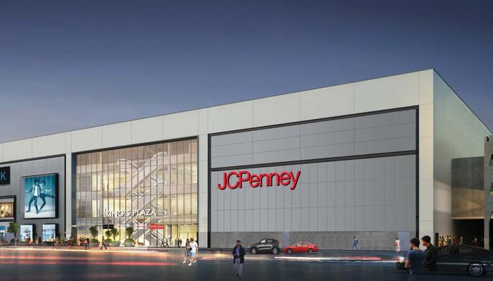 A rendering of a new JCPenney store