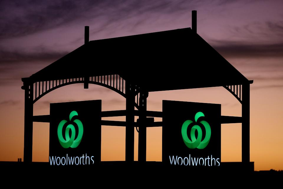 Woolworths logo at sunset. Source: Getty Images
