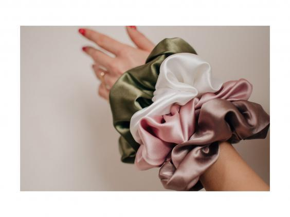 Lavish and oversized, these silk scrunchies are ideal for quickly tying your hair up (Etsy)