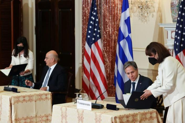 U.S. Secretary of State Blinken and Greece's Foreign Minister Dendias hold meetings in Washington