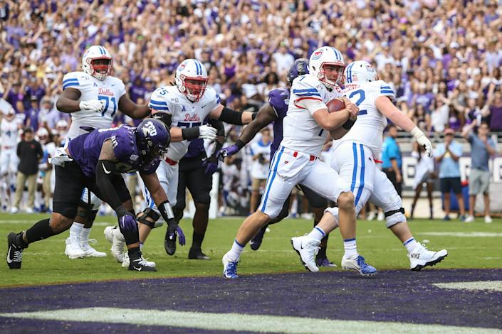 SMU beat TCU in 2019 to win the Iron Skillet. (Photo by George Walker/Icon Sportswire via Getty Images)