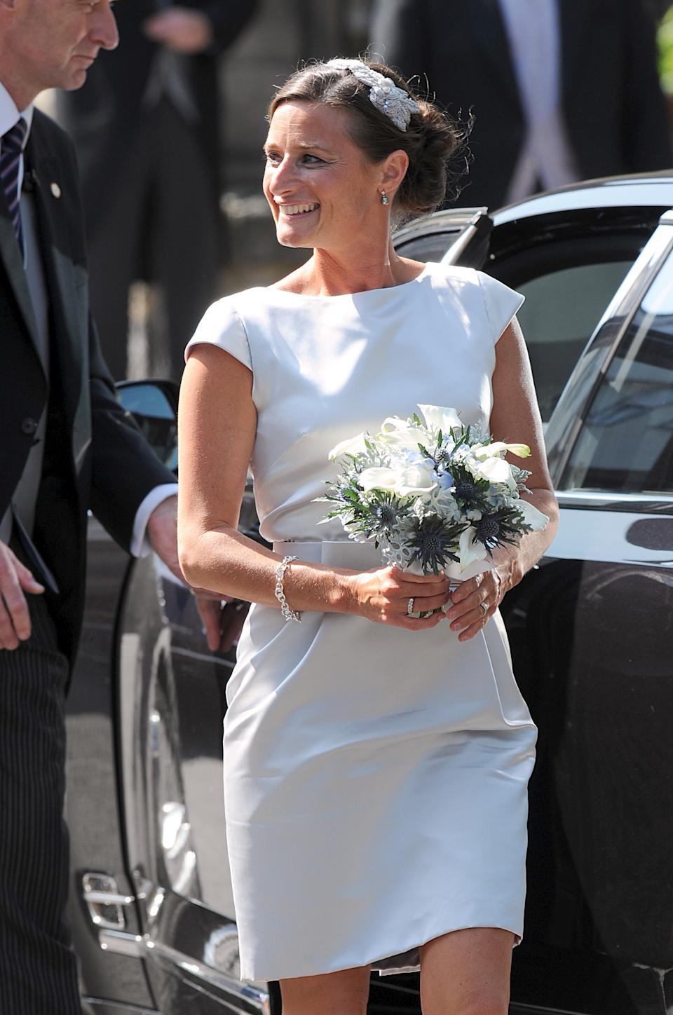 Maid of Honour Dolly Maude arriving for the wedding of Zara Phillips and Mike Tindall.   (Photo by Owen Humphreys/PA Images via Getty Images)