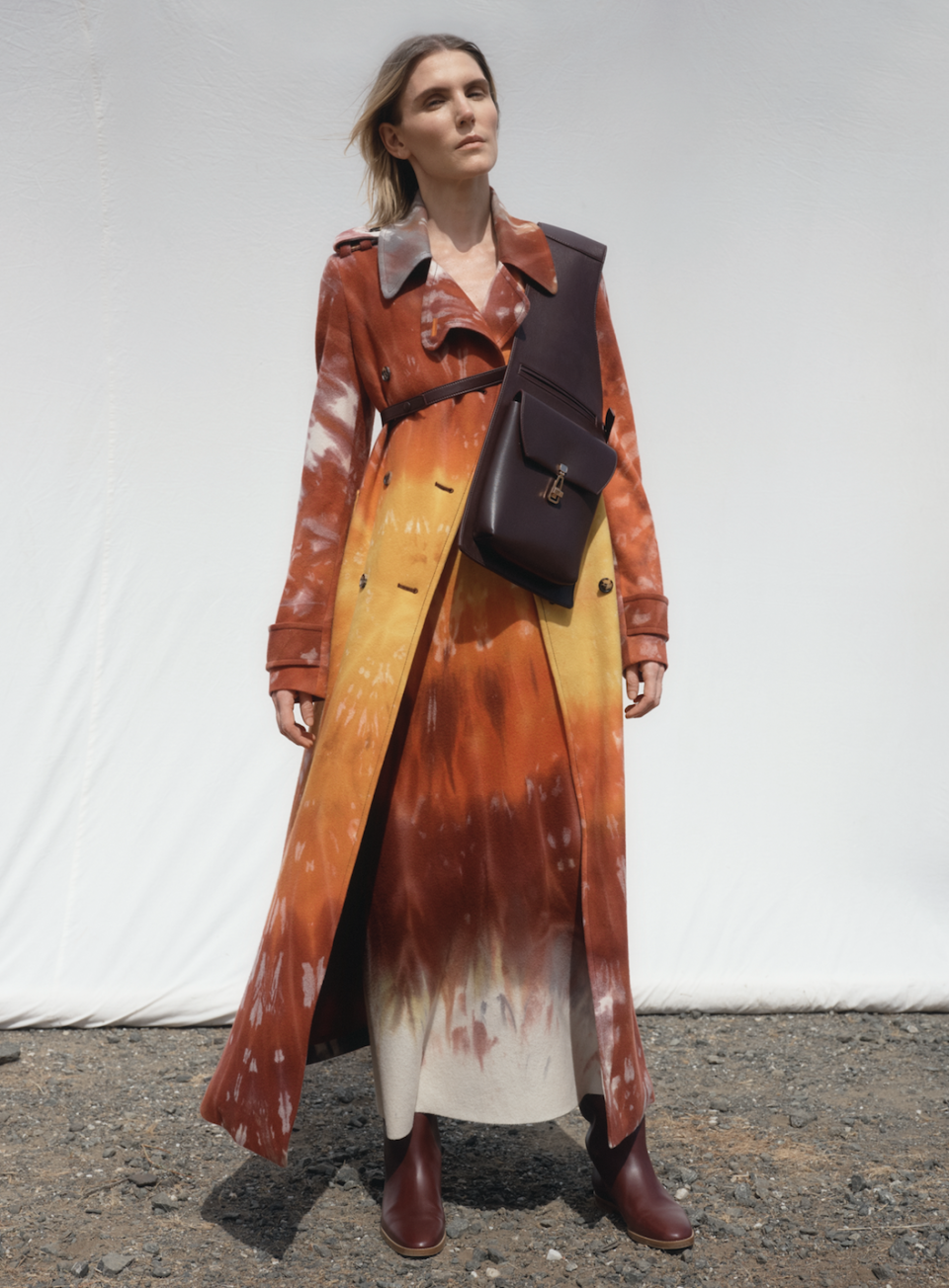 """<p>An important tidbit to note about Gabriela Hearst's resort 2021 collection is that 60 percent of this collection was created from repurposed or recycled materials. The fashion house used leftover suiting fabric to create new pieces, repurposed its cashmere to create long trenches and dresses, and """"hand crochet geodes neck detailing"""" were turned into swimwear—just to name a few.<br></p>"""