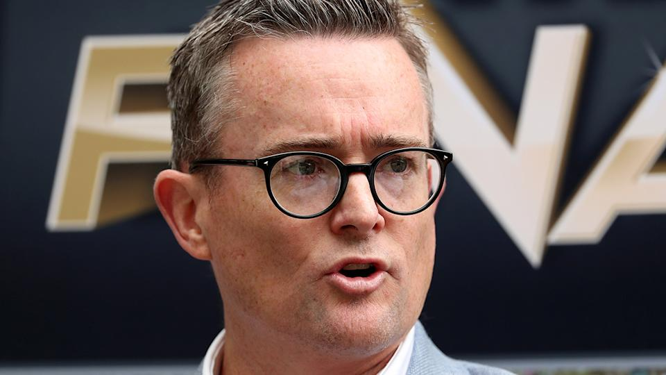 BBL boss Alistair Dobson, pictured here speaking to the media at the MCG.