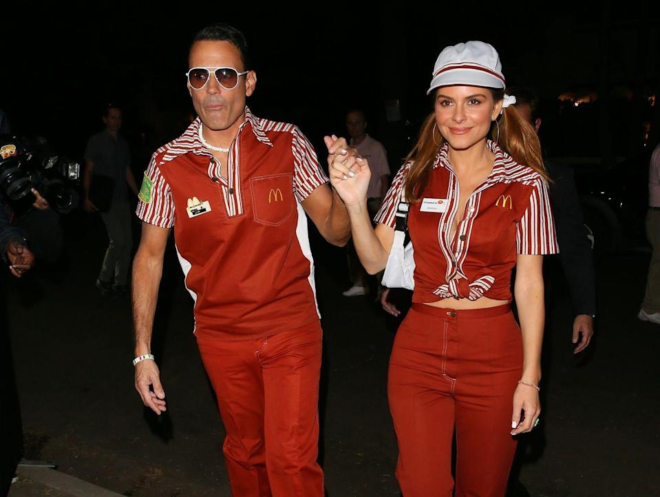 <p>Maria Menounos and husband Keven Undergaro's McDonald's costumes are a little retro, a little funky, and cooler than the real thing for sure. These celebrity Halloween costumes fit right in at the 2019 Casamigos Halloween party.</p>