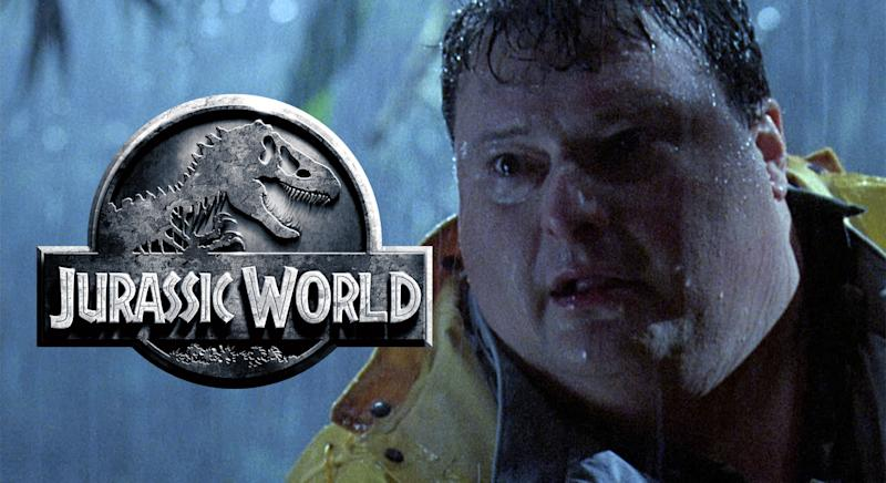 Dilophosaurus returning for Jurassic World 2: Wayne Knight's Dennis Nedry was dispatched by one in the first film (Universal)