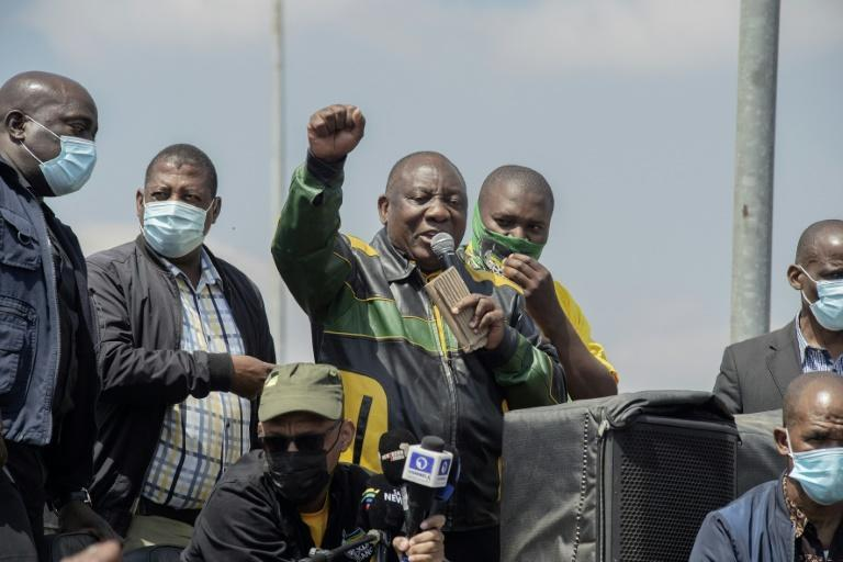 The November lcoal elections are expected to provide a real test President Ramaphosa's African National Congress (AFP/LUCA SOLA)