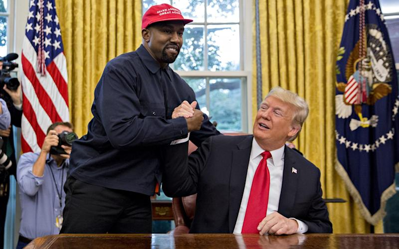 Rapper Kanye West with US President Donald Trump during a meeting in the Oval Office of the White House - Andrew Harrer/Bloomberg
