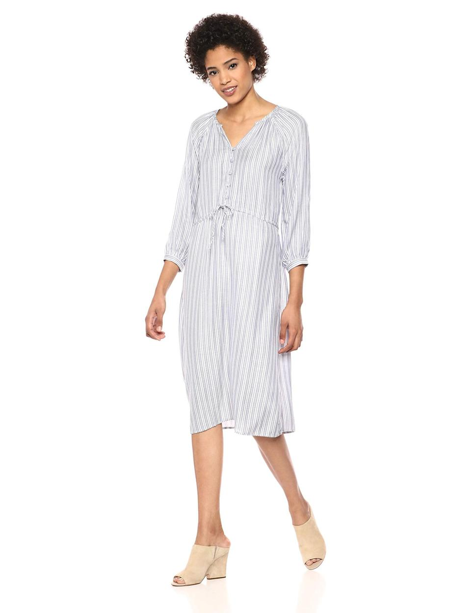 """<br><br><strong>Michael Stars</strong> Catalina Caitlyn Balloon Sleeve Striped Dress, $, available at <a href=""""https://amzn.to/2R9Ldav"""" rel=""""nofollow noopener"""" target=""""_blank"""" data-ylk=""""slk:Amazon"""" class=""""link rapid-noclick-resp"""">Amazon</a>"""