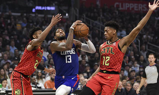 George´s 37 in home debut lead Clippers past Hawks 150-101