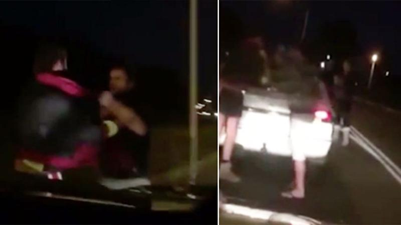 The two drivers were involved in an alleged road rage, reportedly filmed on an Australian road. Photo: LiveLeak