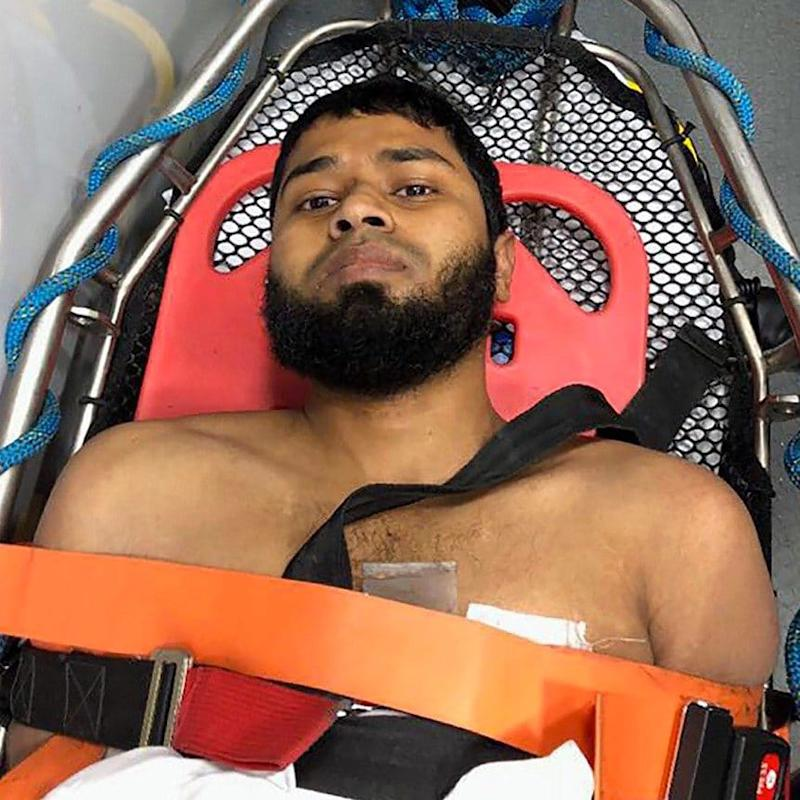 Akayed Ullah receiving treatment after Monday's bomb attack - Polaris / eyevine