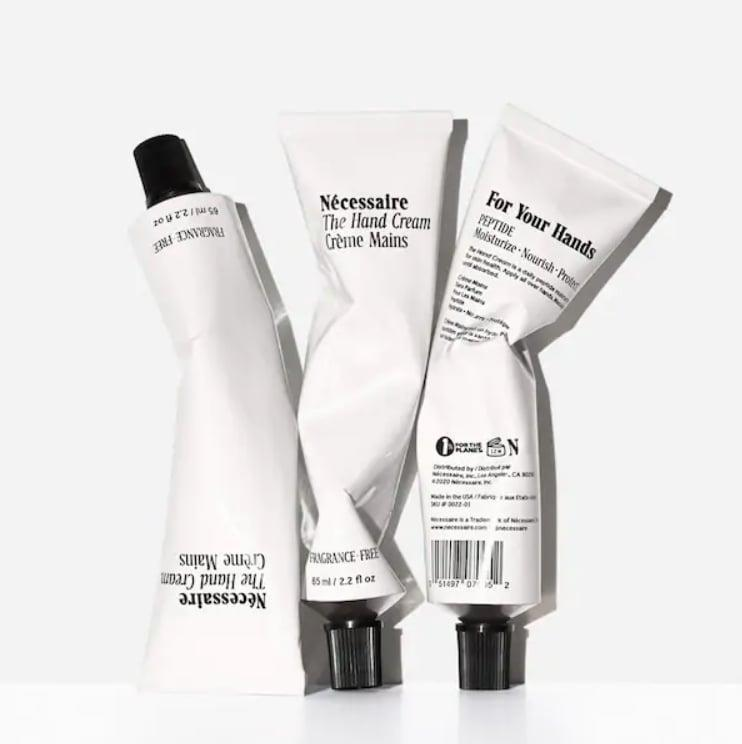 """<p>""""Nécessaire's body lotion is my absolute favorite body moisturizer, so I'm extra excited about the brand's new <span> Hand Cream</span> ($20)! The smaller size is handbag-friendly - definitely a must have for keeping my hands soft on the go."""" - SN</p>"""