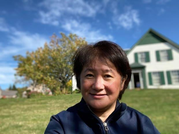 Katsue Masuda recently gave a virtual tour of Green Gables to a group in Japan who tuned in on Zoom.  (Submitted by Katsue Masuda - image credit)