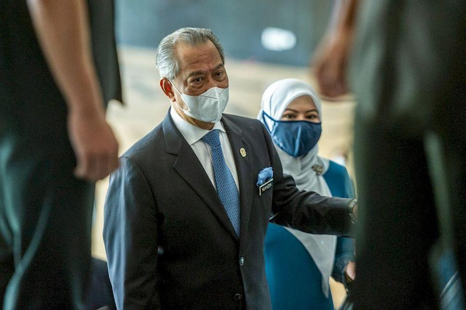 Mahiaddin is the prime minister's given name, but he is better known through his adopted name of Muhyiddin. — Picture by Shafwan Zaidon