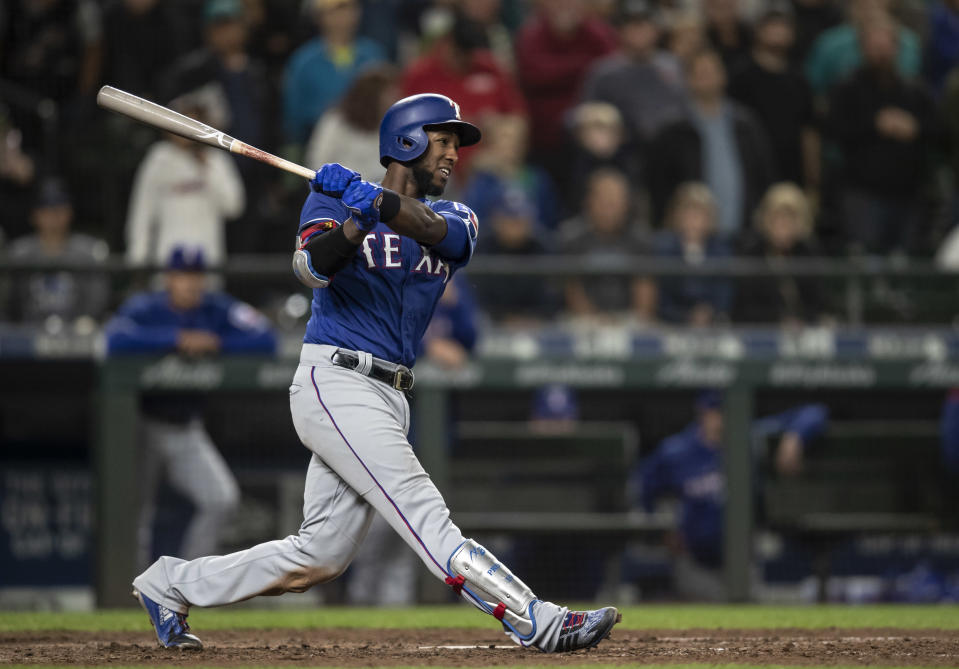 Former No. 1 overall prospect Jurickson Profar is headed to the Athletics. (Photo by Stephen Brashear/Getty Images)