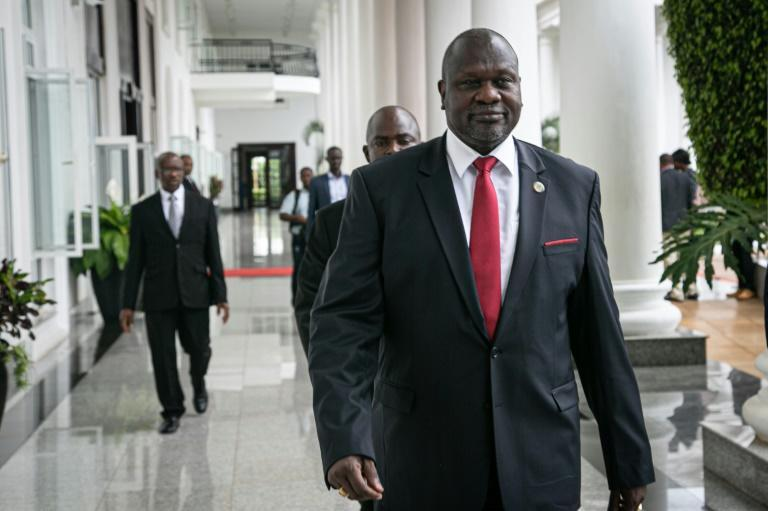 Riek Machar lives in exile in Khartoum and cannot travel freely in the region (AFP Photo/Michael O'HAGAN)