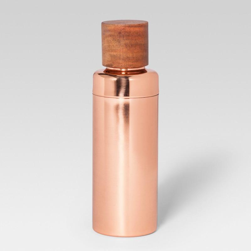 """<a href=""""https://www.target.com/p/cocktail-shaker-rose-gold-project-62-153/-/A-52408800#lnk=newtab"""" target=""""_blank"""">Shop it here</a>."""
