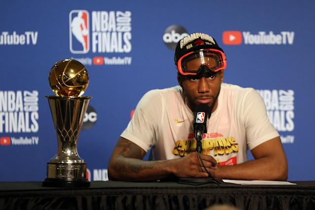 The Raptors won the title in their first (and only?) season with Kawhi Leonard. (Reuters)