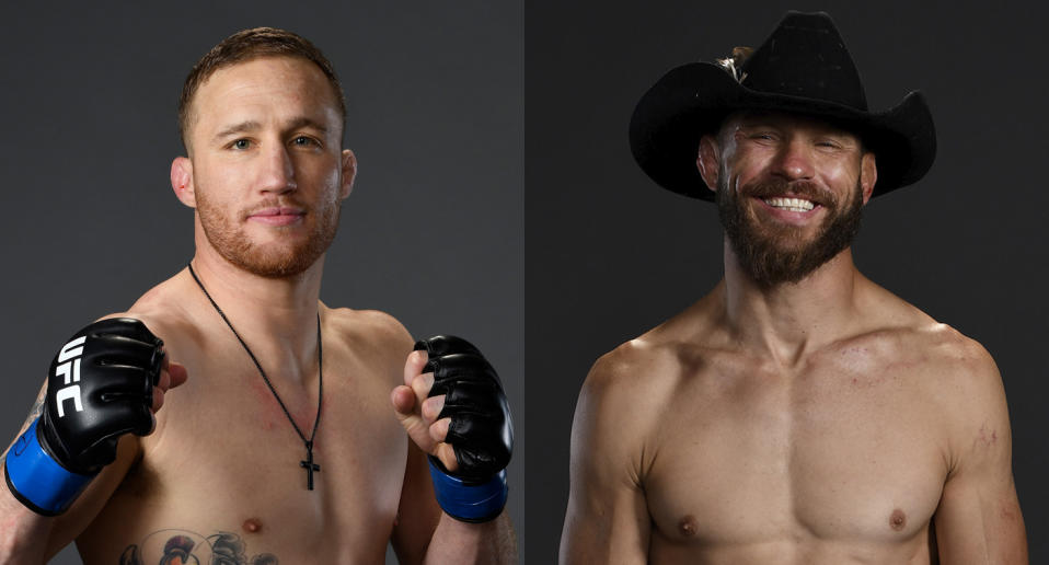 Justin Gaethje (20-2) will face Donald Cerrone (36-12) at UFC Vancouver on Sept. 14. (Getty Images)