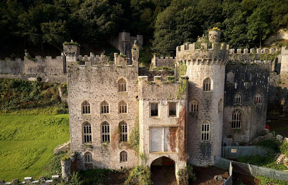 Gwrych Castle in Wales (Rex Features)