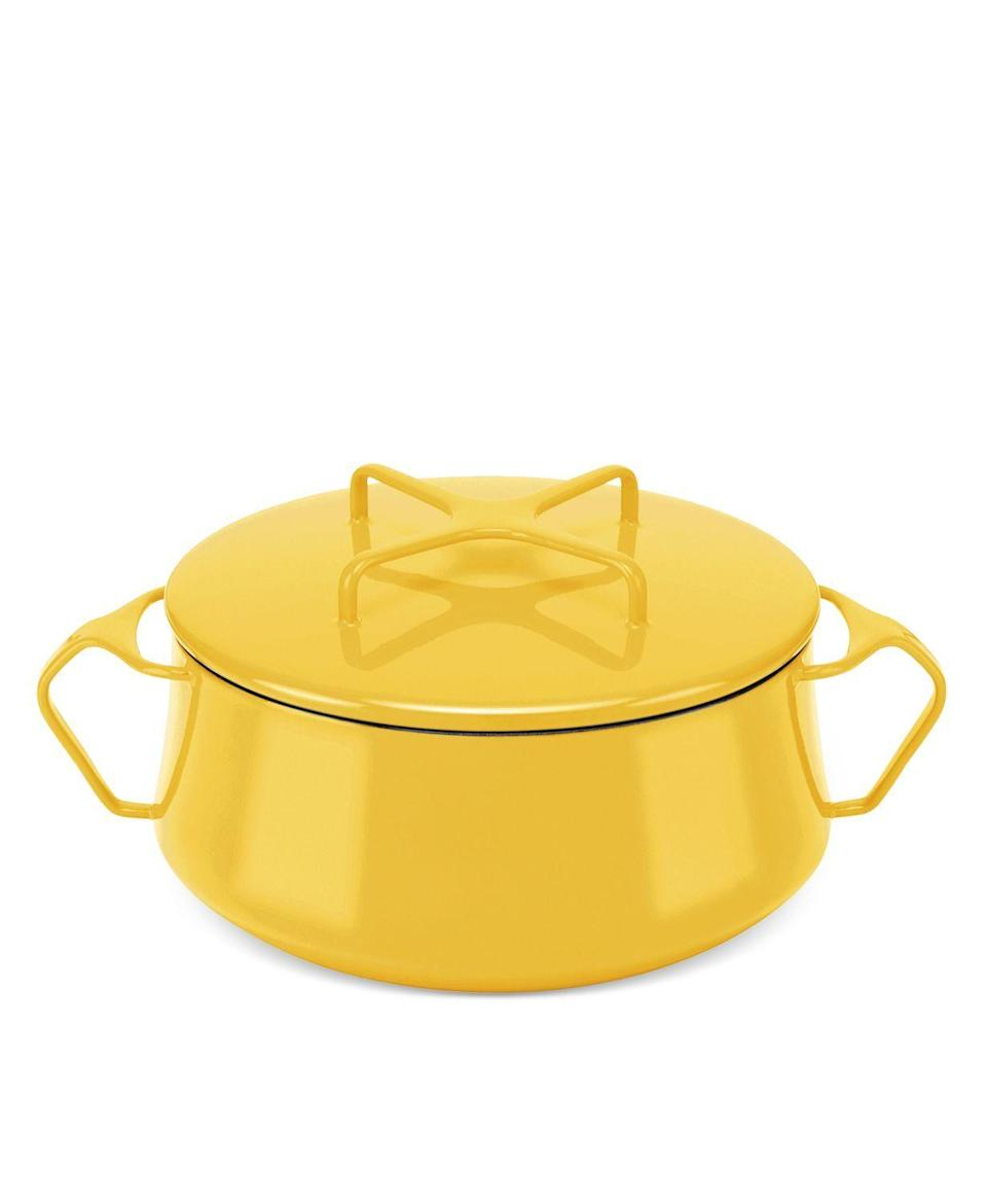 """<p><strong>Dansk</strong></p><p>bloomingdales.com</p><p><strong>$115.00</strong></p><p><a href=""""https://go.redirectingat.com?id=74968X1596630&url=https%3A%2F%2Fwww.bloomingdales.com%2Fshop%2Fproduct%2Fdansk-kobenstyle-2-qt.-casserole-with-lid%3FID%3D3838024&sref=https%3A%2F%2Fwww.thepioneerwoman.com%2Ffood-cooking%2Fg36522958%2Fbest-casserole-dishes%2F"""" rel=""""nofollow noopener"""" target=""""_blank"""" data-ylk=""""slk:Shop Now"""" class=""""link rapid-noclick-resp"""">Shop Now</a></p><p>Dansk Kobenstyle casseroles are iconic mid-century works of art, but they're also very functional. The enameled steel is super lightweight and the lid doubles as a trivet.</p>"""