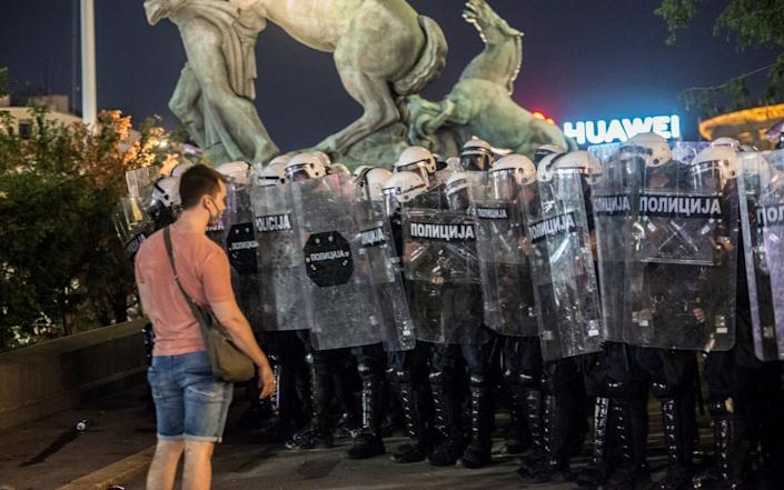 While the government backtracked on the curfew, the protests have continued against a leader accused of trampling on Serbia's democratic institutions - Getty Images Europe