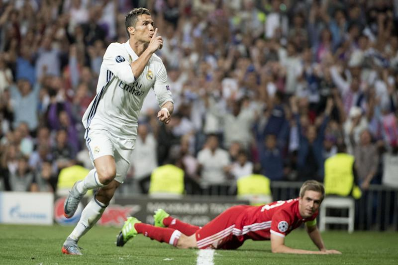 Hat-trick hero: Cristiano Ronaldo inspired Real to a 4-2 win over Bayern: AFP/Getty Images
