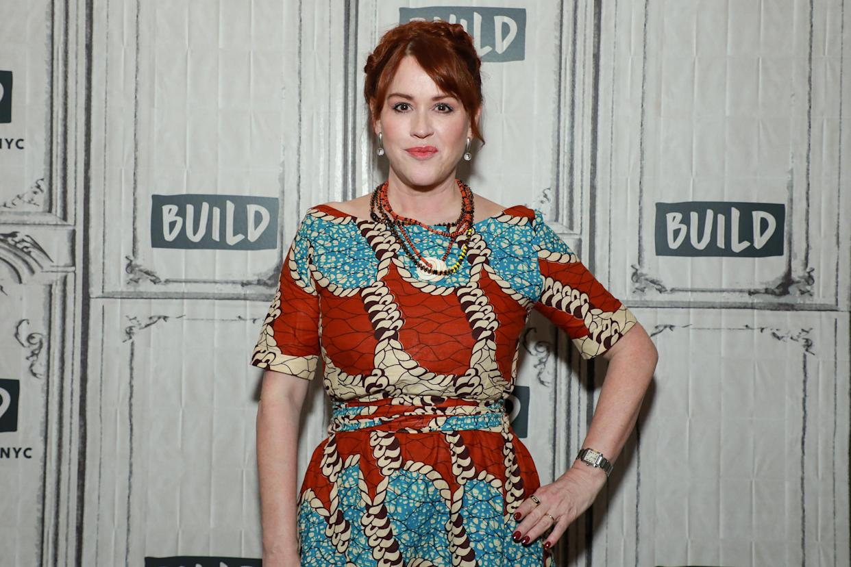 NEW YORK, NY - OCTOBER 07: Molly Ringwald at Build Studio on October 7, 2019 in New York City. (Photo by Jason Mendez/Getty Images)