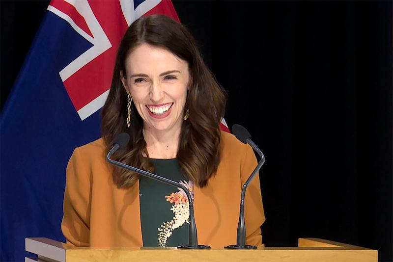 Pictured is New. Zealand's Prime Minister, Jacinda Ardern