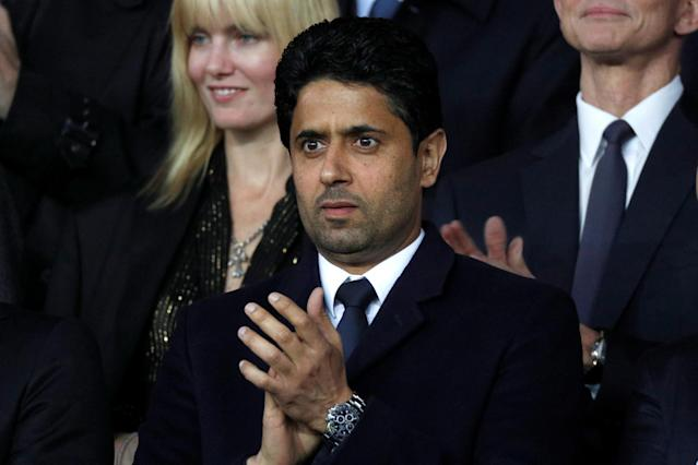 Paris Saint-Germain president Nasser Al-Khelaifi is in some hot water. (REUTERS/Charles Platiau)