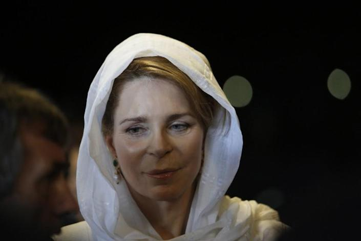 Her Majesty Queen Noor of Jordan attends a ceremony marking 20th anniversary of the Srebrenica massacre in the memorial complex of Potocari, 150 kms northeast of Sarajevo, Saturday, July 11, 2015. Twenty years ago, on July 11, 1995, Serb troops overran the eastern Bosnian Muslim enclave of Srebrenica and executed some 8,000 Muslim men and boys, which International courts have labeled as an act of genocide, and newly identified victims of the genocide are still being re-interred in Srebrenica.(AP Photo/Amel Emric)