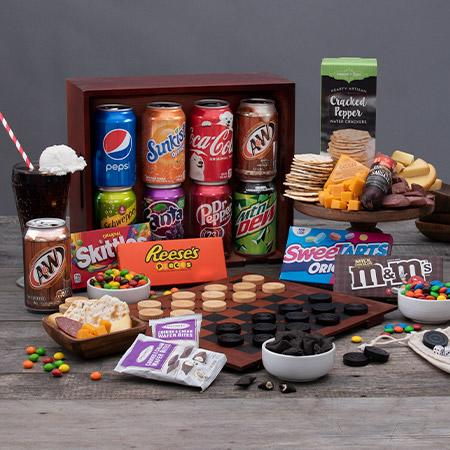 Gourmet Gift Baskets Father's Day Soda & Candy Game Crate