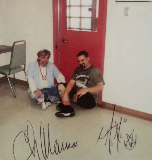 During one of William Harder's many visits with Charles Manson at San Quentin State Prison. (Photo: William Harder)